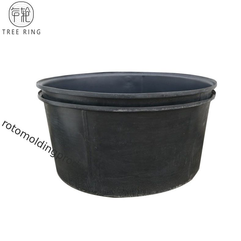 1500l Huge Plastic Cattle Drinking Troughs , Roto Moulded Black Plastic Tub Pond