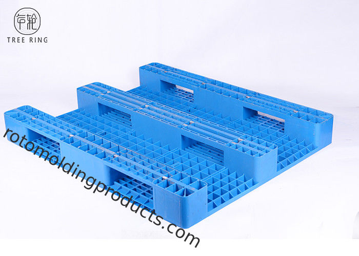 Steel Reinforced Colored HDPE Plastic Pallets Anti-Slip Rubber Inserted 1300 * 1100