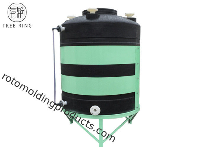 Rotational Molded Plastic Cone Bottom Tanks 15 Degree For Chemical Storage CPT3000L